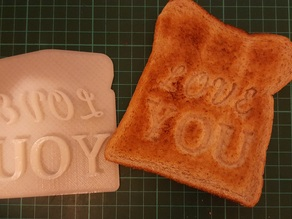 Customizable - Valentines Day Toast Stamp