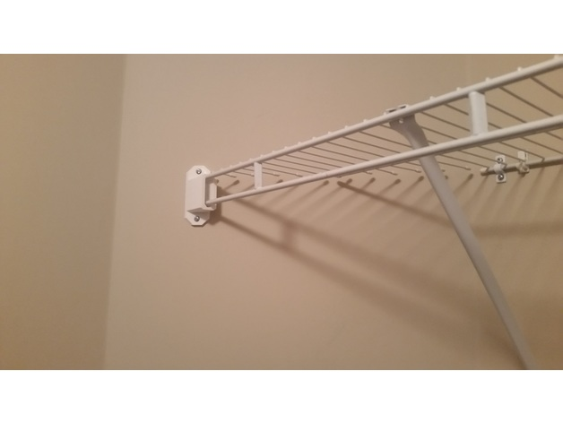 45 Degrees end wall bracket for wire shelving by rufo - Thingiverse