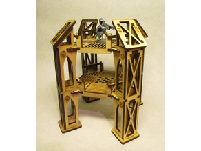 Level 2 narrow octagonal building for 3mm laser cut MDF