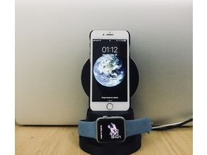 Wire / Wireless charging dock for iPhone and Apple Watch