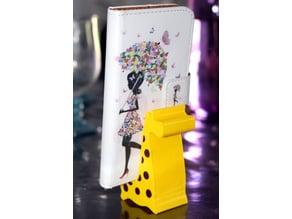 Giraffe Cell Phone Stand_Spots Remix