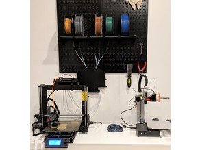 Multi-spool holder for Wall Control Peg board and Prusa MMU2s