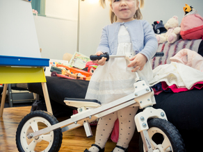 Printed balance bike for 2yo (draisienne) (Dandy horse)