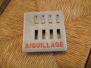 boite à aiguillage/Box for electric switch (HO)