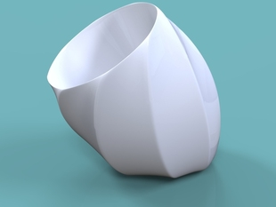 Tippy Twisty Vase