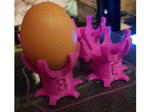 Eggcup with initials for easter brunch