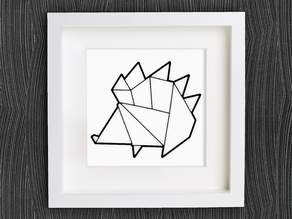 Customizable Origami Hedgehog