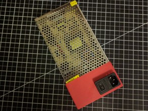 Anet A8 power Supply Cover with IEC320 C14 Socket Space