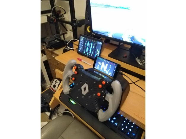 F1 Style Steering Wheel For G27/70mm Sim Racing Setup by