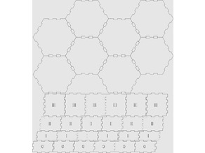 Eclipse Lasercut Sector Hexagon Box Fits All Expansions