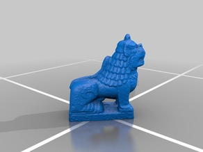 Nepalese foo dog sculpture
