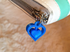 Spinning Heart Charm