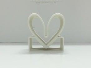 Heart Name Card Holder