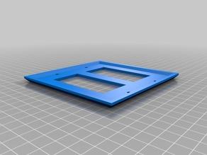 Double Designer Rocker Switch Wall Plate