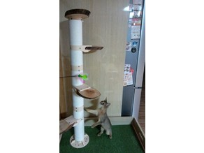 Cat Tower plastic wrap Utilization