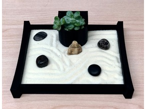 Desktop Zen Garden with Planter