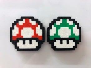Super Mario 8-Bit Mushroom Magnet/Keychain