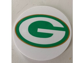 Multi-Color Packers Coaster