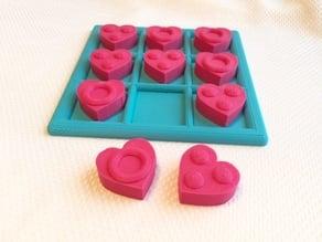 Tactile Tic Tac Toe - Hearts