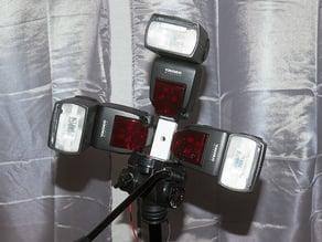 Triple Camera Flash Holder