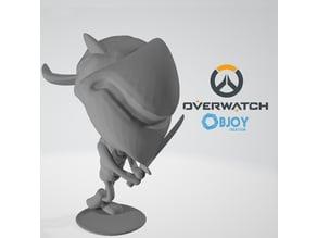 Genji Overwatch Figurine - by Objoy Creation