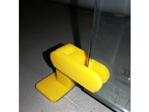 Print in place door-stop for glass door