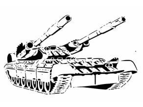Heavy Tank Stencil