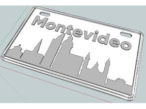 Chapa/Plate Montevideo (decoración/decor)