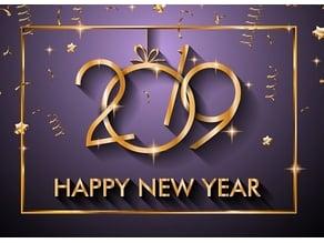 Happy new year 2019 Lithophane