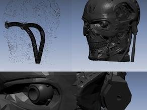 T-800 Terminator Exoskull With 5mm holes for led
