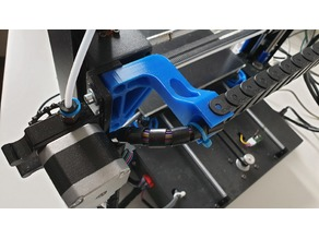Anycubic i3 Mega drag chain holder for side mounted extruder