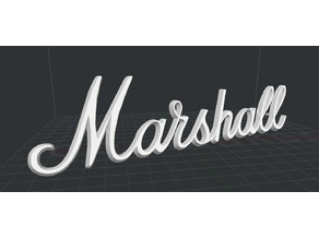 Marshall Logo (with original bevel and montage pins)