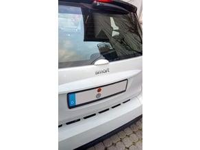 Smart 451 rear glass handle