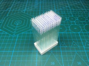 Vertical microscope slide holder/storage (parametric)