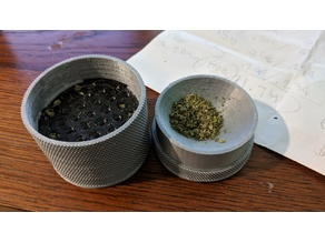 The Turbine - 60mm Toothless Herb Grinder REMIX (80% scale) Pocket Sized