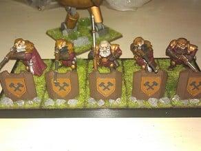 Sniper Shields for Kings of War Dwarfs
