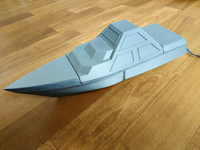 DARINS - stealth boat with reactionless propulsion drive