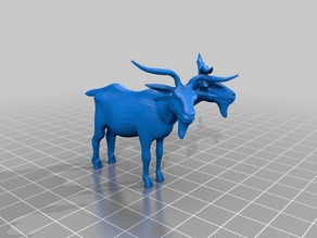 Two headed goat mini