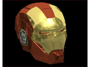 Iron Man Helmet with mechanical gears for lifting face mask