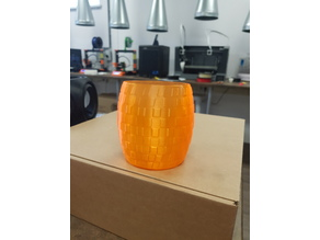 Squared pattern Vase