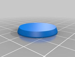 25mm Round Wargames Figure Base MK 2