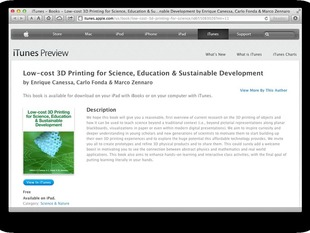 free iBook on Low-cost 3D Printing for Science, Education and Sustainable Development