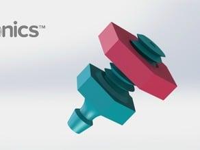 Drip Emitter V1 (Nut) - 3Dponics Emitters & Plugs