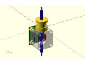 Duet3d filament monitor mount for E3D titan