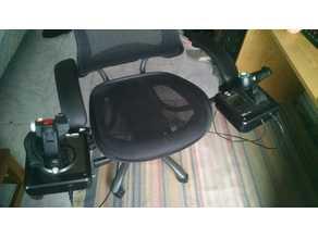 Pole mount for joystick chair mount