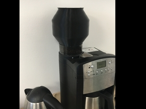Coffee container extender for BEEM coffee maker