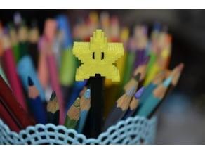 Small Pencil Pixel Star