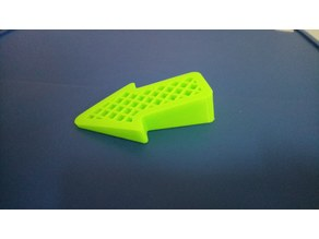 Arrow door stop with mesh