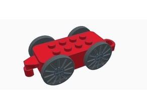 Wooden rials train - Upgrades + Racing parts !
