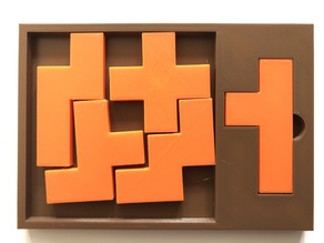Penta-Pentomino - Tray-packing puzzle by Stewart Coffin (STC #176A)